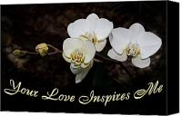 Inspirational Saying Canvas Prints - Your Love Inspires Me Canvas Print by Andee Photography