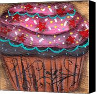 Cupcake Canvas Canvas Prints - Yummy 7 Canvas Print by  Abril Andrade Griffith