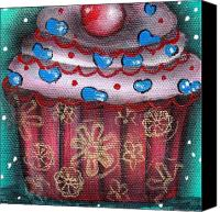 Cupcake Canvas Canvas Prints - Yummy 8 Canvas Print by  Abril Andrade Griffith