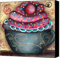 Cupcake Canvas Canvas Prints - Yummy 9 Canvas Print by  Abril Andrade Griffith