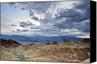 Death Valley National Park Canvas Prints - Zabriskie point twilight Death Valley Canvas Print by Pierre Leclerc