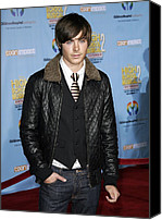 Black Tie Canvas Prints - Zac Efron At Arrivals For Dvd Premiere Canvas Print by Everett