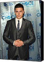 Nokia Theatre Canvas Prints - Zac Efron At Arrivals For Peoples Canvas Print by Everett