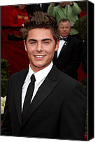 Academy Awards Oscars Canvas Prints - Zach Efron At Arrivals For 82nd Annual Canvas Print by Everett