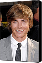 Nokia Theatre Canvas Prints - Zach Efron At Arrivals For Arrivals - Canvas Print by Everett