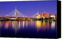 Skyline Canvas Prints - Zakim Twilight Canvas Print by Rick Berk