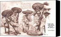 Emiliano Canvas Prints - Zapata and Friends Canvas Print by Bill Olivas
