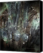 Fantasy Canvas Prints - Zauberwald Vollmondnacht Magic Forest Night of the Full Moon Canvas Print by Mimulux patricia no