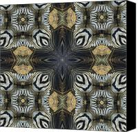 Magissimo Canvas Prints - Zebra Cross II Canvas Print by Maria Watt