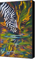 Kd Neeley Canvas Prints - Zebra Canvas Print by Kd Neeley