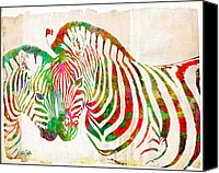 Nikki Marie Smith Canvas Prints - Zebra Lovin Canvas Print by Nikki Marie Smith