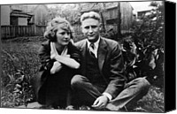 Csx Canvas Prints - Zelda Fitgerald And F.scott Fitzgerald Canvas Print by Everett