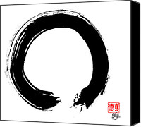 Asian Art Canvas Prints - Zen Circle Five Canvas Print by Peter Cutler