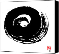 Martial Arts Canvas Prints - Zen Circle Wave Canvas Print by Peter Cutler