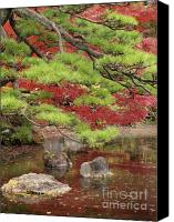 Red And Green Canvas Prints - Zen Canvas Print by Eena Bo