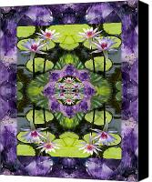 Spiritual. Geometric Canvas Prints - Zen Lilies Canvas Print by Bell And Todd