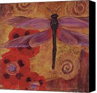 Dragonfly Art Canvas Prints - Zen Moment Canvas Print by Debbie McCulley