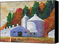 Clayton Painting Canvas Prints - Zenda Farm Fall Canvas Print by Robert P Hedden