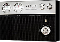 Dial Photo Canvas Prints - Zenith Radio Canvas Print by Marilyn Hunt