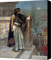 Empire Painting Canvas Prints - Zenobias last look on Palmyra Canvas Print by Herbert Gustave Schmalz