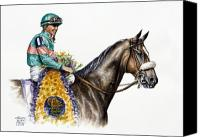 Mare Canvas Prints - Zenyatta Canvas Print by Thomas Allen Pauly