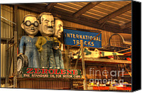 Classic Gas Pumps Canvas Prints - Zerolene Vintage Figures Canvas Print by Bob Christopher