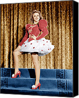 1940s Portraits Canvas Prints - Ziegfeld Girl, Judy Garland, 1941 Canvas Print by Everett