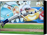 Washington Nationals Canvas Prints - Zim Makes the Play Canvas Print by Jason Yoder