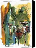 Wine Art Canvas Prints - Zin-FinDel Canvas Print by Robert Joyner