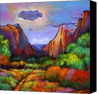 National Parks Canvas Prints - Zion Dreams Canvas Print by Johnathan Harris