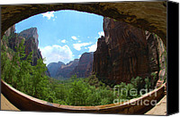 Mother Earth Canvas Prints - Zion National Park Utah Canvas Print by Micah May