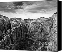 Rock Angels Canvas Prints - Zion National Park - View from Angels Landing Canvas Print by Larry Carr