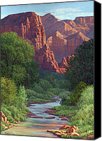 Four Corners Canvas Prints - Zion Canvas Print by Randy Follis