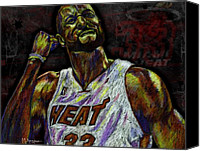 Nba Canvas Prints - Zo Canvas Print by Maria Arango