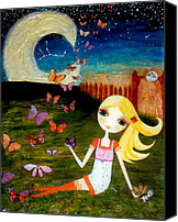 Folksy Canvas Prints - Zodiac Virgo Canvas Print by Laura Bell