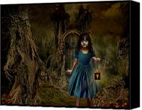 Magic Forest Canvas Prints - Zoe en el Bosque Encantado Canvas Print by Raul Villalba