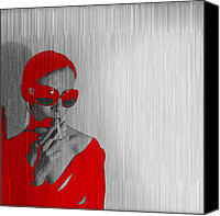 Model  Canvas Prints - Zoe in Red Canvas Print by Irina  March