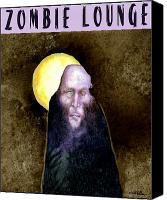 Lounge Canvas Prints - Zombie Lounge... Canvas Print by Will Bullas