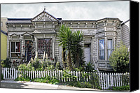 Pioneers Canvas Prints - Zombie Victorian Home - San Francisco California Canvas Print by Daniel Hagerman