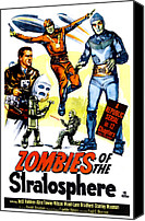 1950s Poster Art Canvas Prints - Zombies Of The Stratosphere, 1952 Canvas Print by Everett