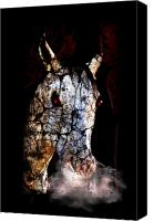 Gx9 Canvas Prints - Zombified Horse Canvas Print by Gravityx Designs