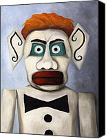 Santa Fe Canvas Prints - Zozobra of Santa Fe Canvas Print by Leah Saulnier The Painting Maniac