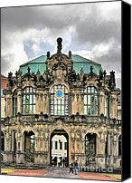 Fragile Canvas Prints - Zwinger Dresden - Carillon Pavilion - Caution fragile Canvas Print by Christine Till