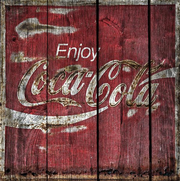 Coca Cola Sign Barn Wood Print by John Stephens