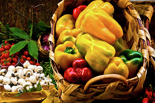 Italian Peppers Print by Harry Spitz
