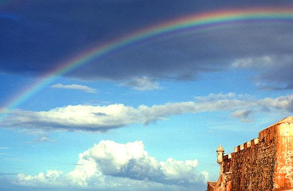 Rainbow Over El Morro Fortress Print by Thomas R Fletcher