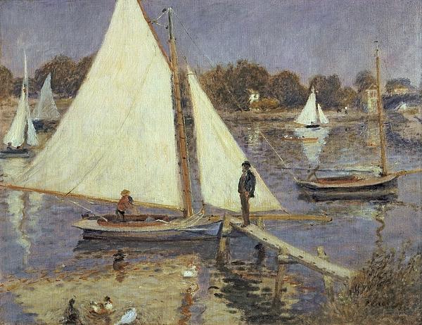 The Seine At Argenteuil Print by Pierre Auguste Renoir