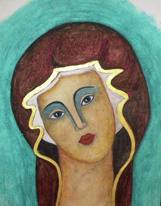 Virgin Mary Print by Vesna Antic