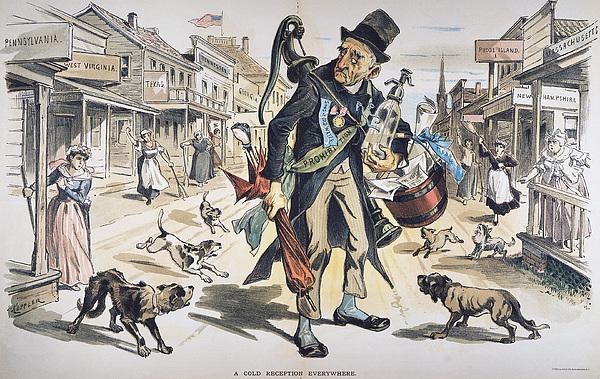 Prohibition  Cartoon, 1889 Print by Granger
