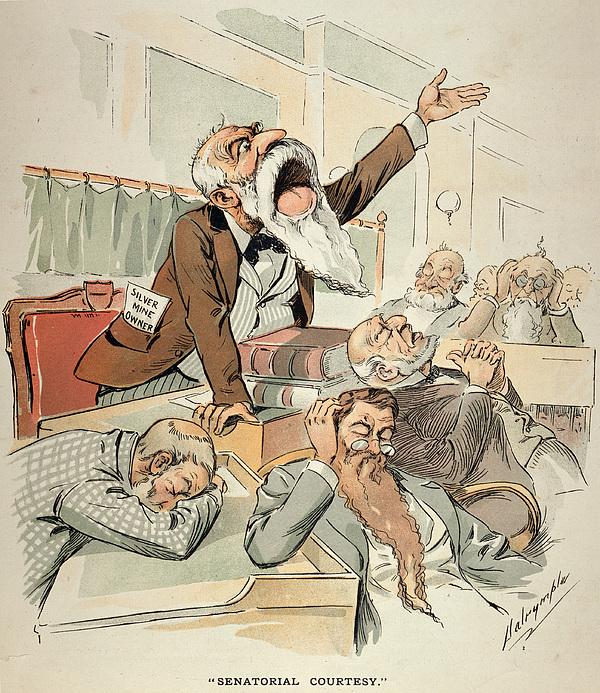 Senate Cartoon,free Silver Print by Granger
